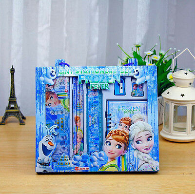 Frozen 8In1 Elsa Anna School Gift Kd Stationery Set Pencil Case Toy Party Gift