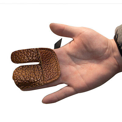 New Cow Leather Three Finger Guard Protect Glove Archery Shooting Hunting Bow SN