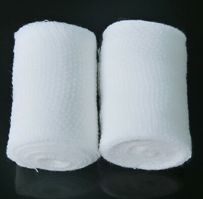 2 pcs PBT Bandage Elastic Surgical Gauze Wound Softly Breathable Home First Aid