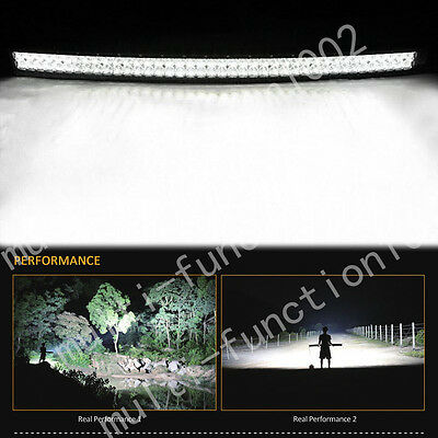 500W 50INCH CURVED LED WORK LIGHT BAR FLOOD SPOT Combo OFFROAD UTE 4X4 4WD BOAT