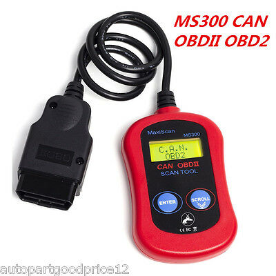 MS300 OBDII Scanner Code Reader CAN OBD2 Scan Professional Auto Diagnostic Tool