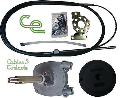 Complete outboard steering kit. 15 foot cable, Teleflex SSC62 or SSC92