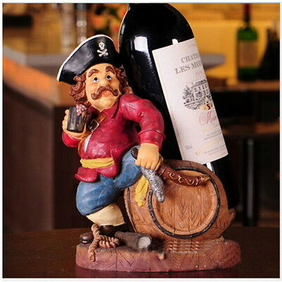 Pirate Caribbean Red Wine Rack Holder Wine Bottle Rack Stand Display Gift #E