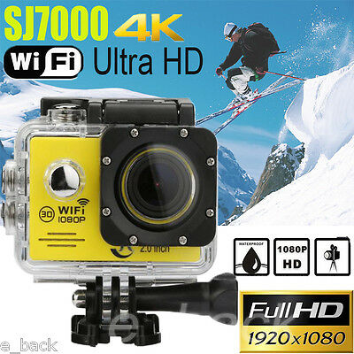"SJ7000 2"" WIFI 1080P HD Action Camera Waterproof Sports DV Pro Camcorder New LOT"