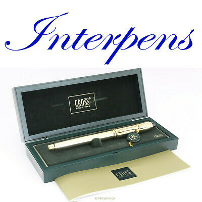CROSS TOWNSEND Füllhalter Fountain Walzgold Rolled Gold 18K M nib Box Papers