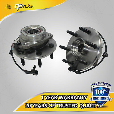 UL Pair NEW Front Wheel Hub Bearing Assembly w/ ABS for Chevy GMC Truck 4X4 4WD