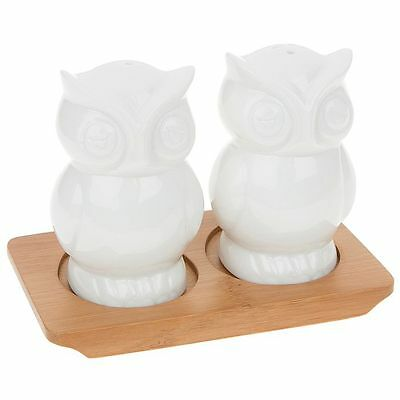 Owls Salt & pepper Novelty Cruet Set NEW  26606