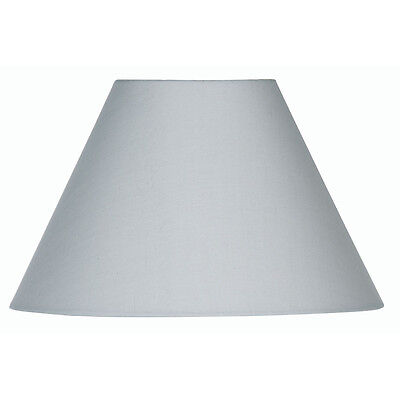 Soft Grey Cotton Coolie Fabric Lamp Shade 14 inch S501/14SG - Oaks Lighting