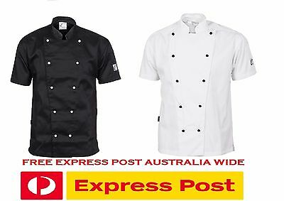 5 X Unisex Traditional Chef Jacket Short Sleeve DNC Work Wear 1101