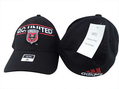 buy online e4ba4 145c2 D.C. United Adidas MLS Black Structured FlexFit Hat Cap S M