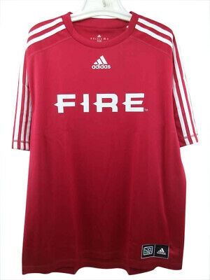 sports shoes 413d3 d401f Chicago Fire Adidas MLS Official Team Climalite Jersey XL