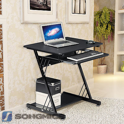 Songmics bureau informatique meuble de bureau pour for Bureau meuble pc gamer