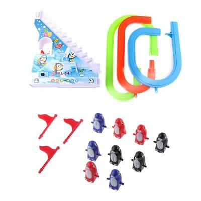 Cheerful Electric Penguin Track Race Climb up Stairs Fun Music Toy Kids Gift