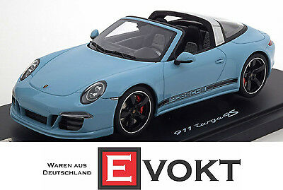 GT Spirit Porsche 911 (991) Targa 4S 2015 Lightblue Model Car 1:18 Genuine New