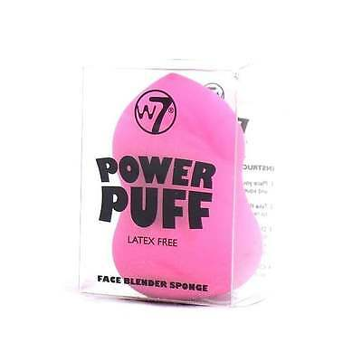 W7 Power Puff Latex Free Face Blender Make Up Sponge Applicator