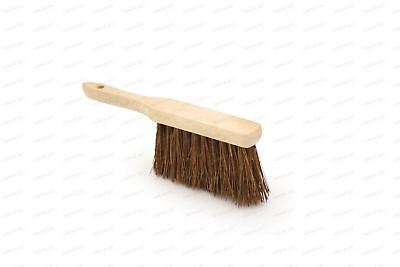 Brand New Stiff Natural Bassine Bristle Banister Hand Brush Sweeping Broom Wood
