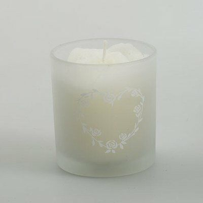 Wedding Favour Scented Candle in decorative glass jar