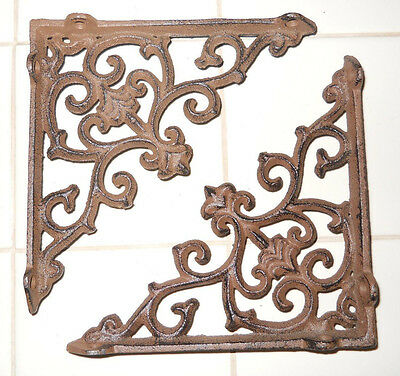 16 Cast Iron Antique Style ARROW Brackets, Garden Braces Shelf Bracket