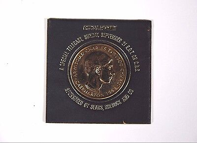 1969 Royal Mint Prince Charles Investiture Bronze Coin Medallion