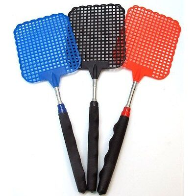 HEAVY DUTY EXTENDABLE FLY SWATTER Plastic Bug Mosquito Insect Killer Telescopic