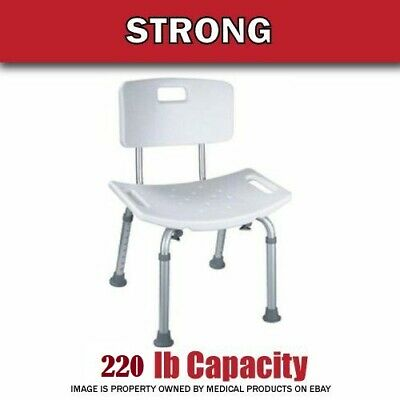 250 lb. Elderly Bathtub Bath Tub Shower Seat Chair Bench Stool with Back Support