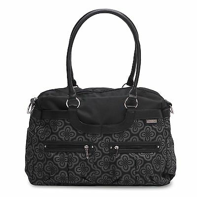 JJ Cole Designer Baby Nappy Changing Satchel Tote Bag Charcoal Infinity Mat