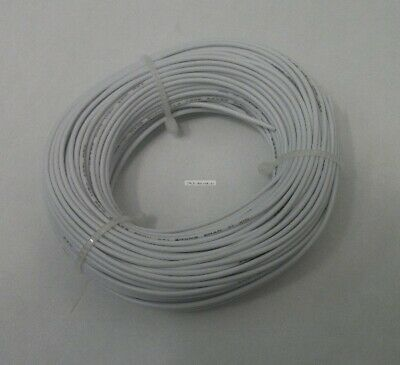 22 AWG tinned copper stranded hook up wire, 100 feet White UL1007