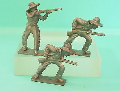 Timmee Vintage Wild West Cowboys moulded in Silver-grey Plastic