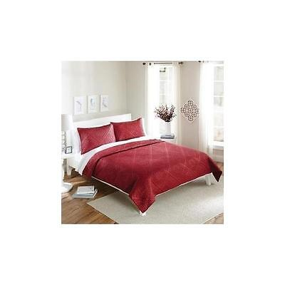 Better Homes And Gardens Red Diamond Bedding Quilt Set, Red