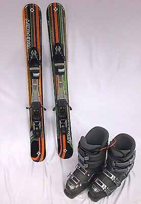 Snowblade Package, 90cm WIDE, Salomon step-in bindings & boots-Fitted fp