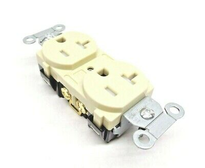 (1) Hubbell Br20Itr Duplex Receptacle Tamper Resistant 20A Ivory