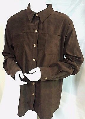 MOTHERHOOD Shirt Jacket MATERNITY SIZE LG Brown Button Front