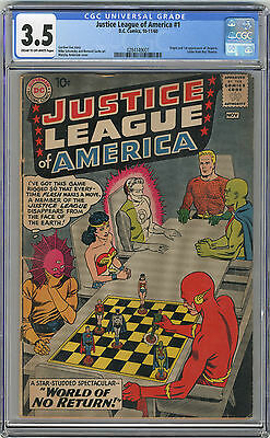 1960 Justice League 1 CGC 3.5 1st Despero