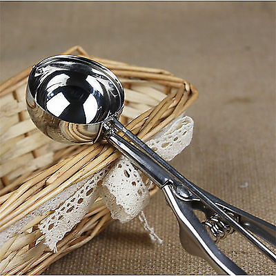 Large Stainless Steel Silver Scoop Ice Cream Mash Kitchen Ball Potato Food Spoon