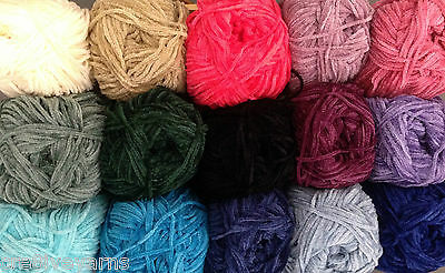 Chenille DK 8ply SIRDAR Knitting Wool 10x50gm Balls **500gm Yarn** BULK BUY