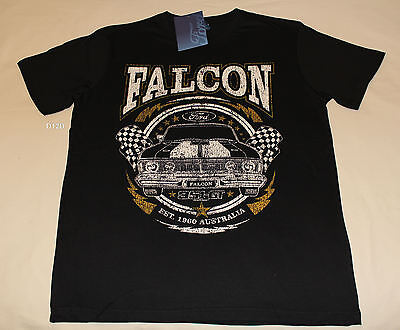 Ford Falcon XY GT Mens Black Printed Short Sleeve T Shirt Size M New