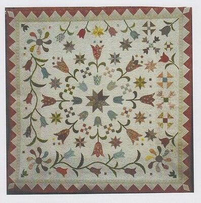PATTERN - Tulipa - applique & pieced quilt PATTERN - Focus on Quilts