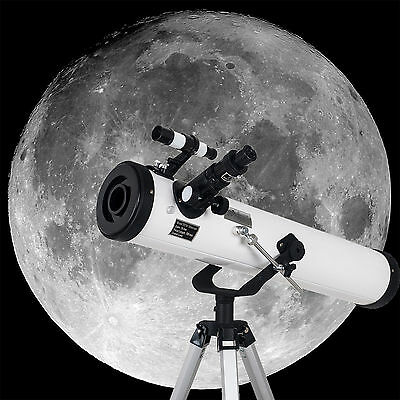 New 700x76mm Reflector Telescope with Tripod and Eyepieces dual purpose gift US