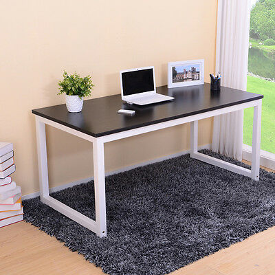 Office Home Computer Laptop Writing Student Study Furniture Desk Table Black AU