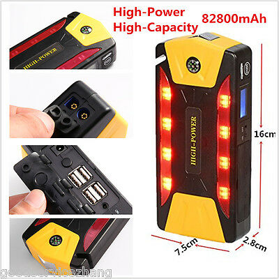 High-Power 82800mAh 4USB Car Jump Starter Emergency Charger Booster with Compass
