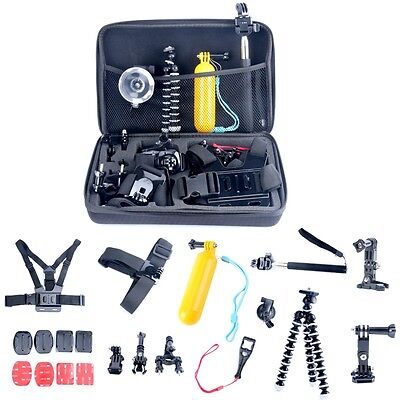 26in1 Head Chest Mount Floating Monopod Accessories Kit for Gopro 2 3 4 Camera--