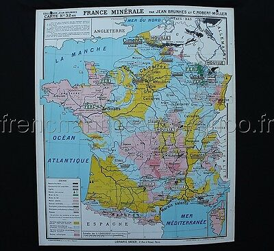 rare carte scolaire france politique 12 hatier d co industriel vintage eur 159 00 picclick fr. Black Bedroom Furniture Sets. Home Design Ideas