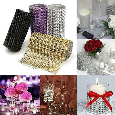 Rouleau 24 Rangs Ruban Strass Galon Diamant Cristal Maille Décoration Mariage
