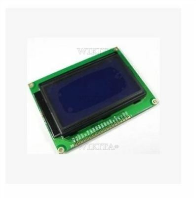 128X64 Dots Graphic Matrix Lcd Blue Backlight Lcd Display Module 5V 12864 New I
