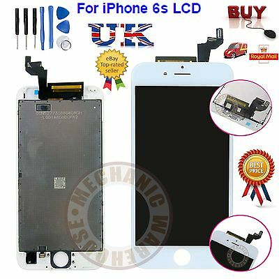 For iPhone 6S LCD White Display Touch Screen Digitizer Lens Assembly Replacement