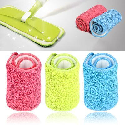 Practical Household Dust Cleaning Reusable Microfiber Pad For Spray Mop FE