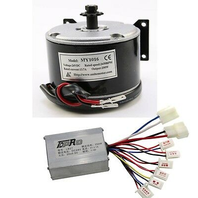 MY1016 24V 250W Brushed Motor + Speed Controller FOR Electric Scooters Bicycle