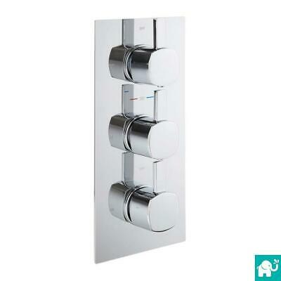 Chrome Square Modern Three Way Concealed Thermostatic Shower Mixer Valve SM627A