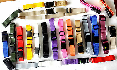 25mm Compression Strap Quick Release Buckle webbing suitcase -Pack of 1 strap
