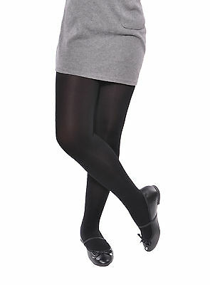 Black Plain School Opaque Tights Older Girl's 11 - 16 Years 1, 2 & 3 pack